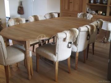 Pr interiors landelijke versailles uitschuifbare tafel 110 - Cote table vente en ligne ...
