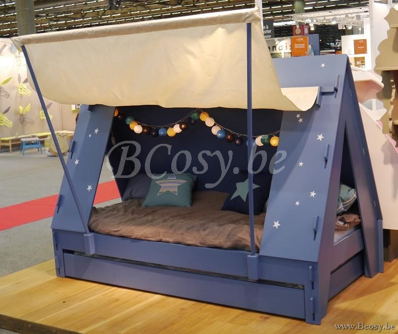 mathy by bols kinderbed tentbed met lattenbodem en bedschuif 90x200 lit enfant tente avec. Black Bedroom Furniture Sets. Home Design Ideas